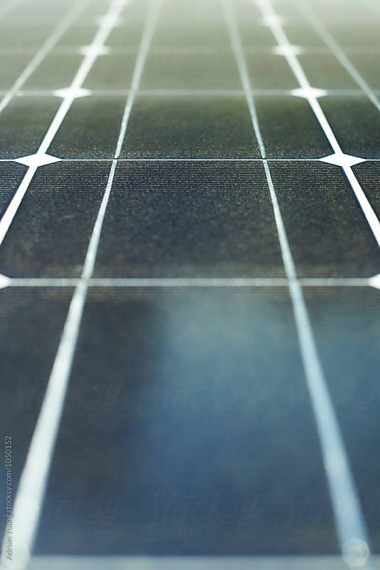 Solar Panel Cells by Adrian Young for Stocksy United
