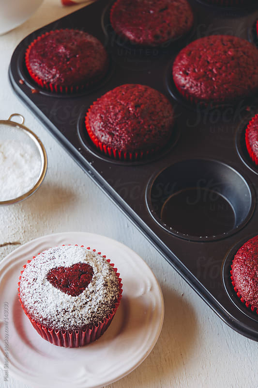Heart muffins by Pixel Stories for Stocksy United