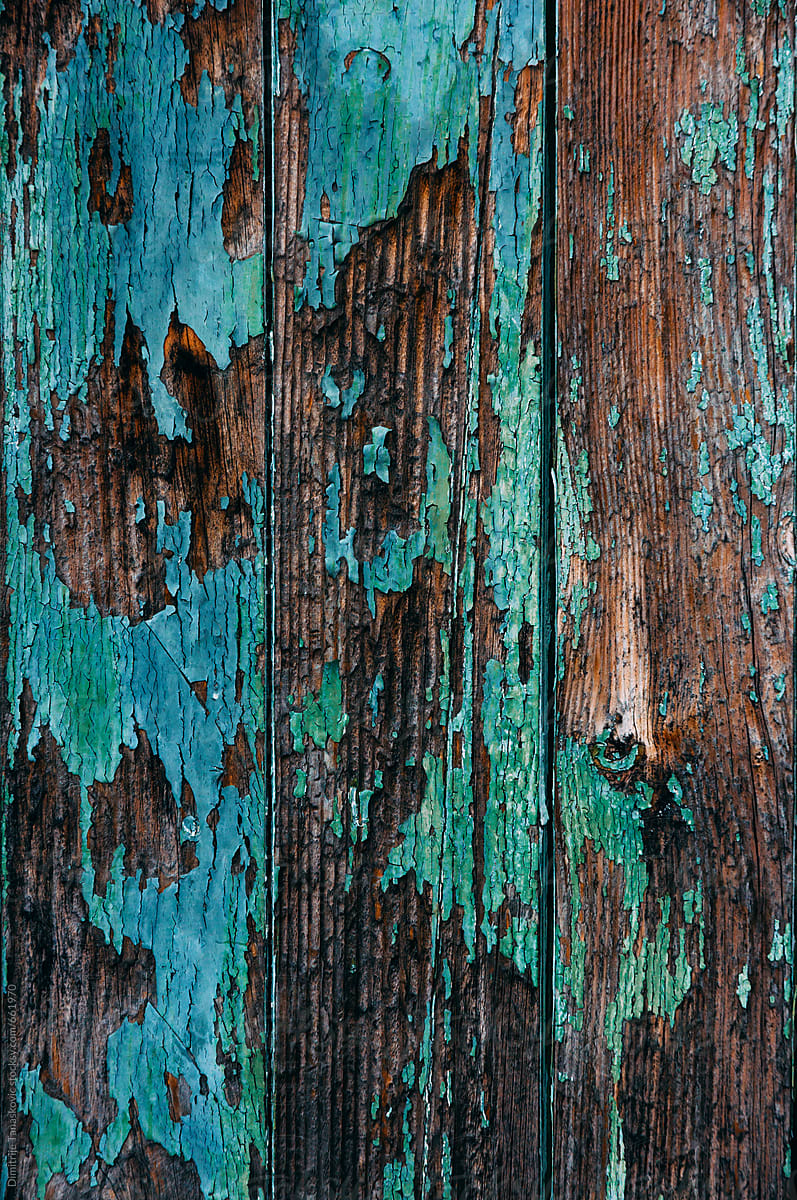 Wood Texture Background. Old Wood Painted In Blue   Stocksy United
