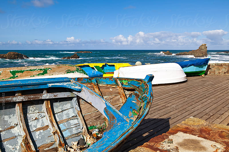 Rowboats in Taganana Coast by VICTOR TORRES for Stocksy United