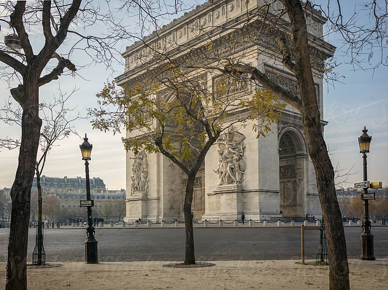 A quiet moment at the Arc Du Triomphe by Chris Chabot for Stocksy United