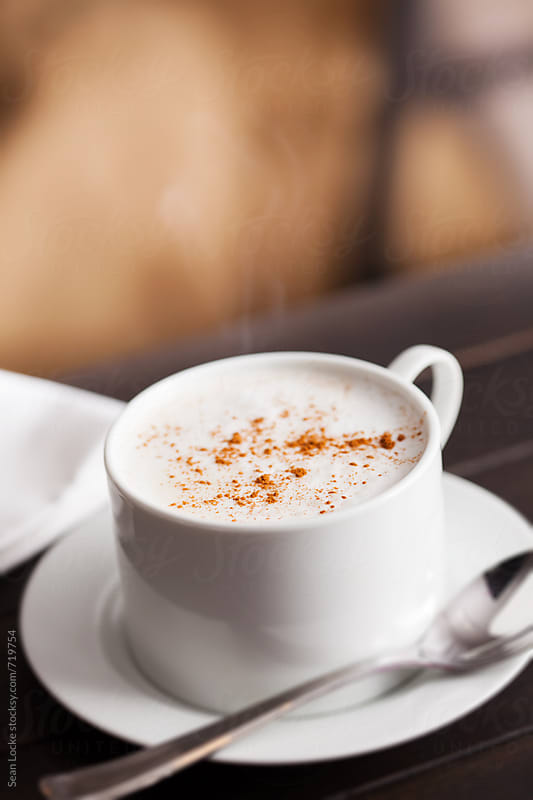 Hot Chai Drink With Foam And Cinnamon by Sean Locke for Stocksy United