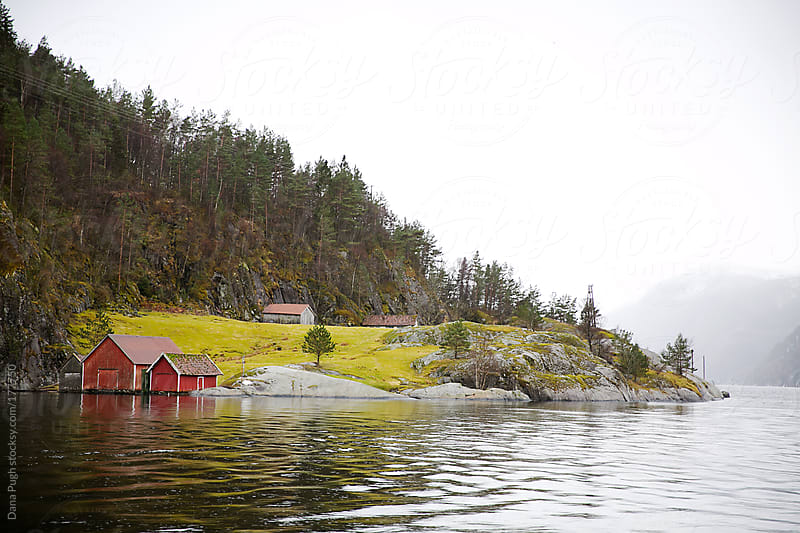 On the water in Norway by Dana Pugh for Stocksy United