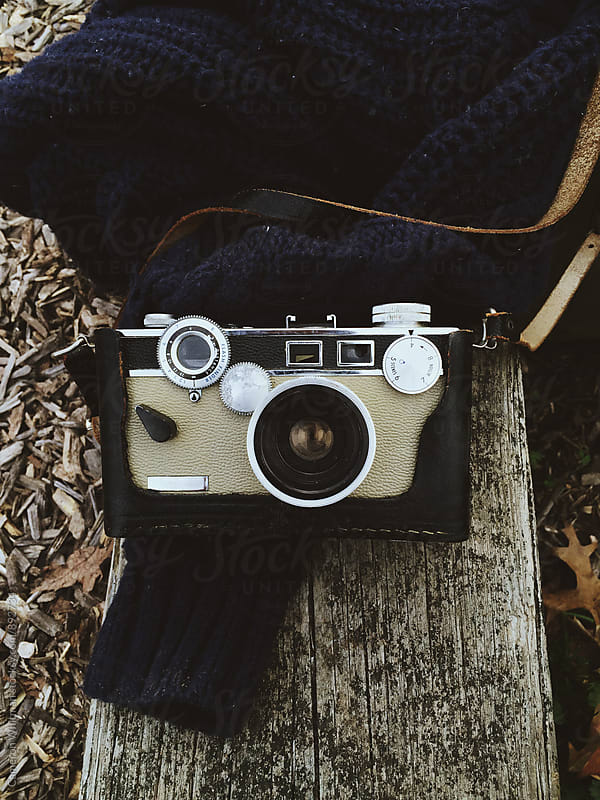 Antique Camera outdoors by Cameron Whitman for Stocksy United