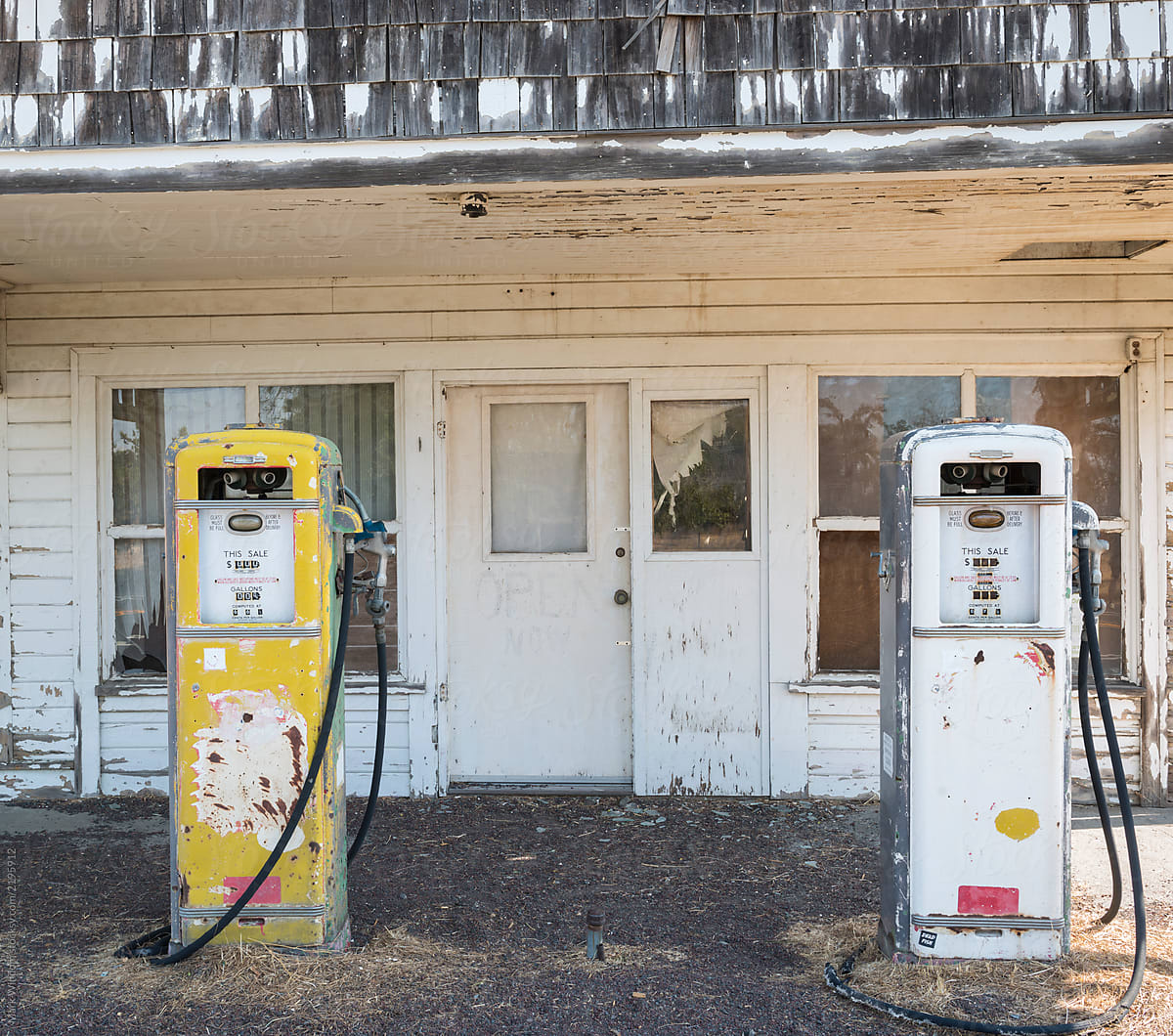 Old Abandoned Gas Station By Mark Windom Gas Station Rural Stocksy United