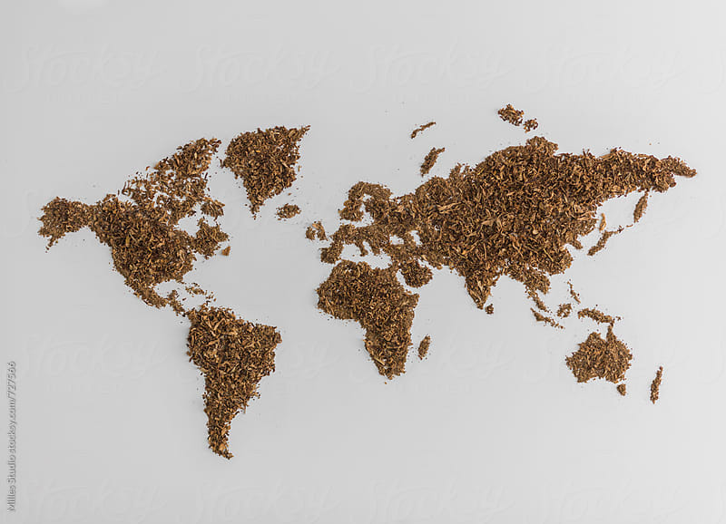 World map made of tobacco by Milles Studio for Stocksy United