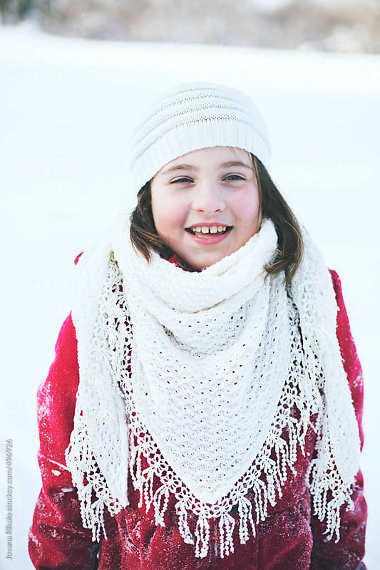 Portrait of a happy little girl by Jovana Rikalo for Stocksy United