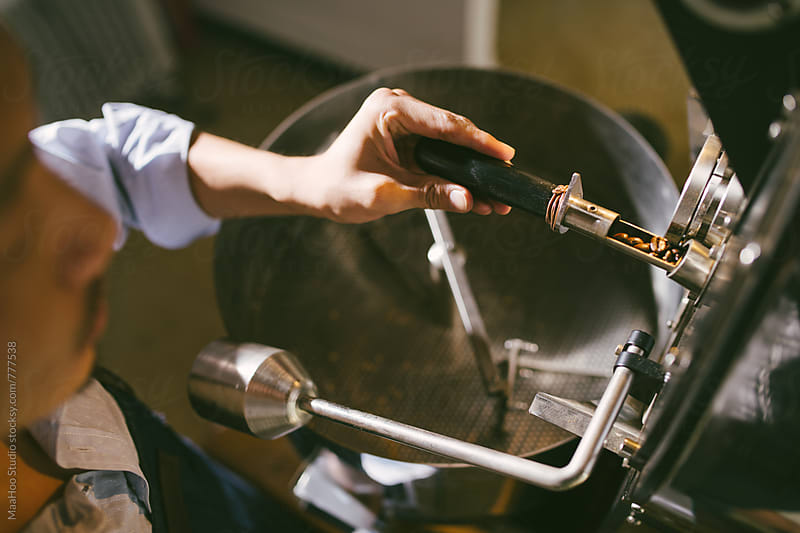 Man working on coffee making workshop by MaaHoo Studio for Stocksy United