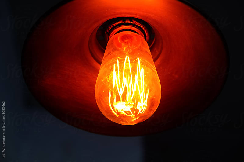 Retro Lightbulb by Jeff Wasserman for Stocksy United