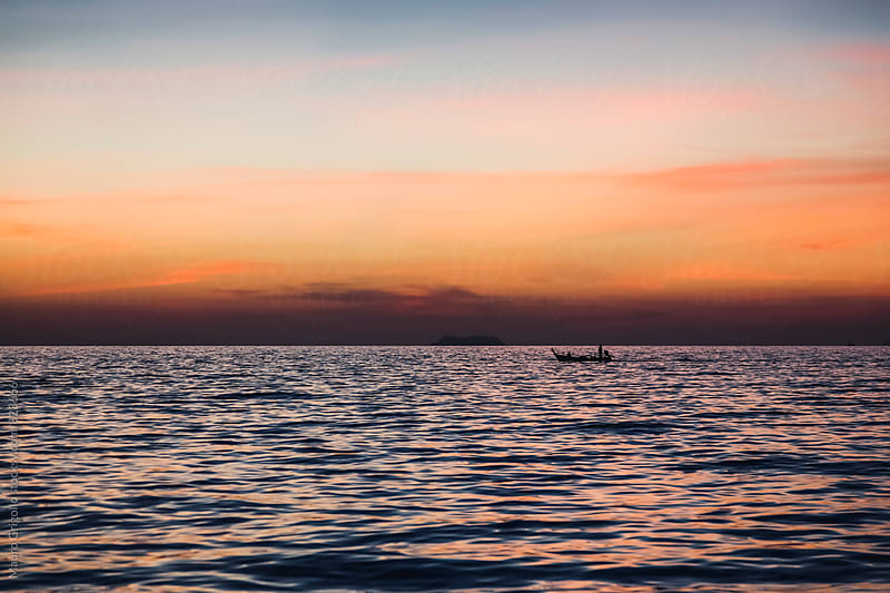 Amazing seascape at sunset by Mauro Grigollo for Stocksy United