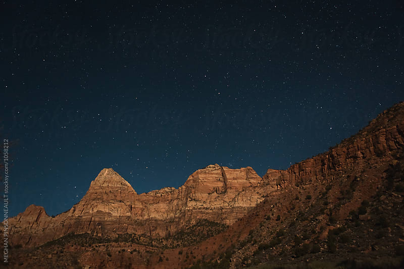 Starry Night in a Vibrant Canyon by MEGHAN PINSONNEAULT for Stocksy United