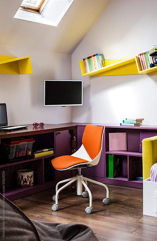 Child's bedroom by Aleksandar Novoselski for Stocksy United