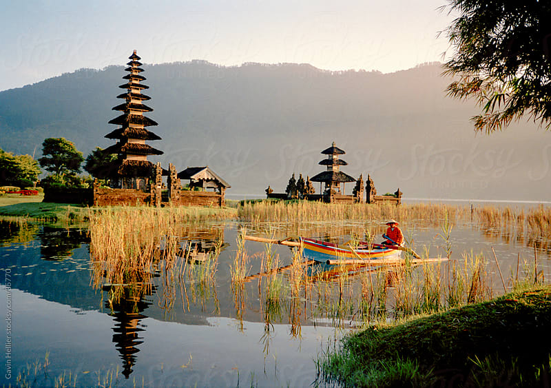 Candikuning (Candi Kuning) Temple, Pura Ulun Danu Bratan, Lake Bratan, Bali, Indonesia by Gavin Hellier for Stocksy United