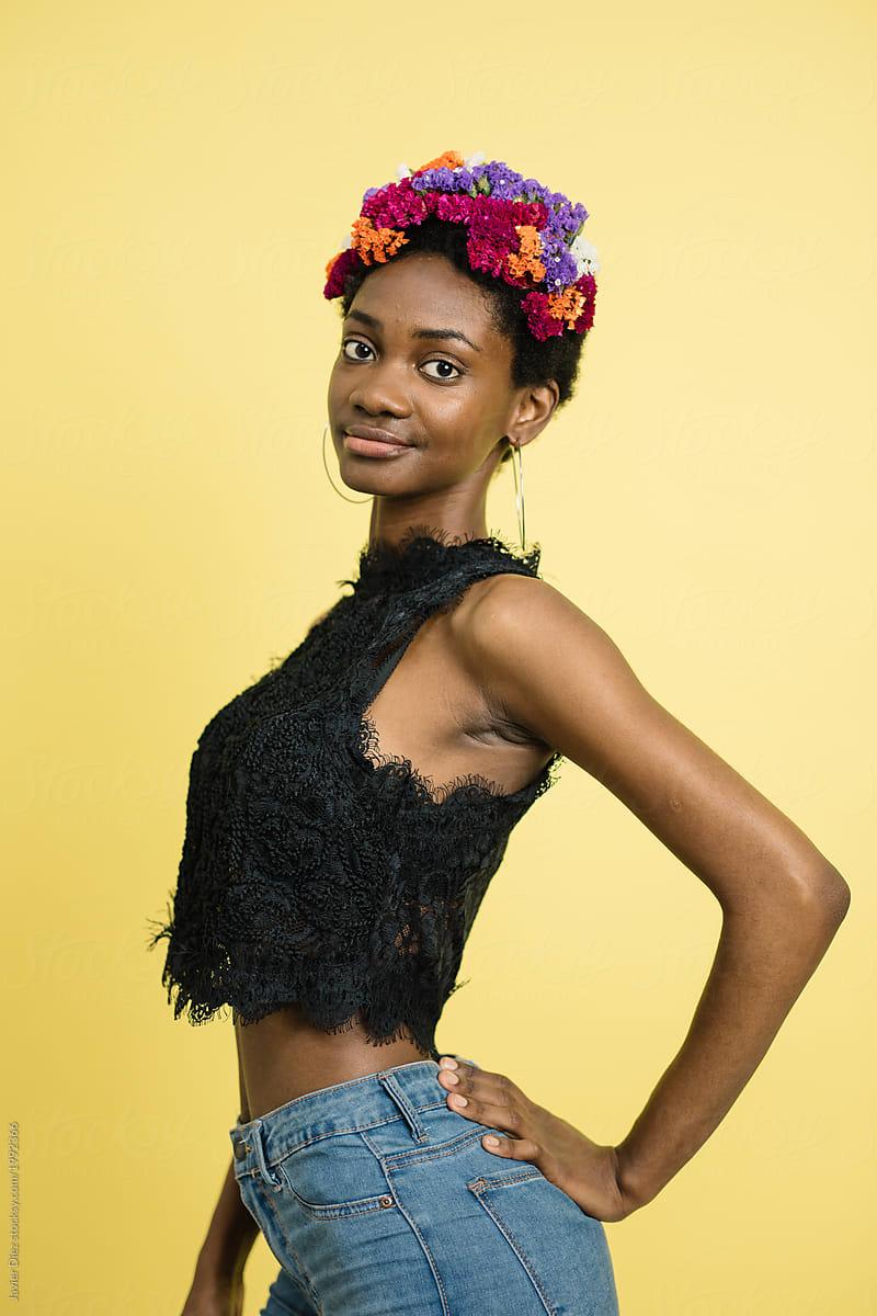 Perfect skinny black girl