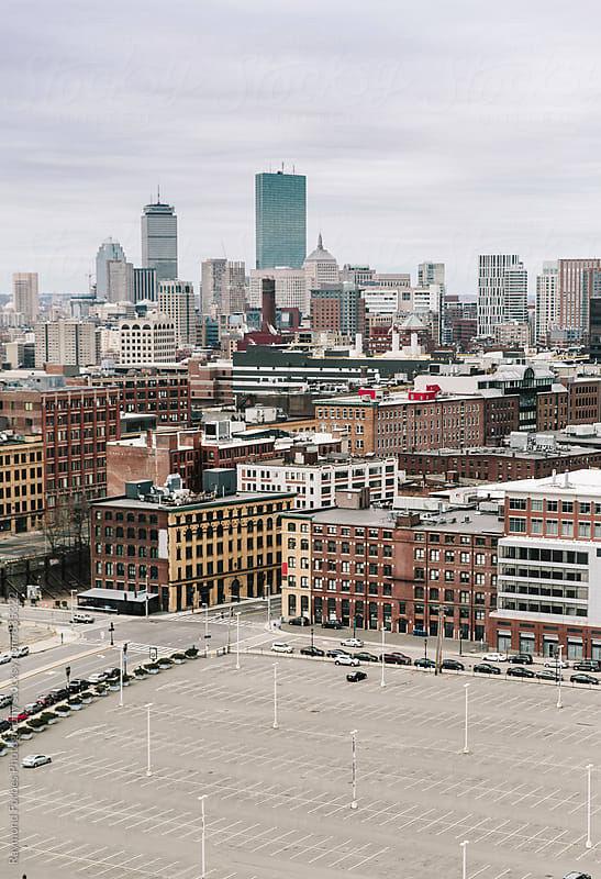 Aerial View of Boston's Back Bay From Innovation District by Raymond Forbes LLC for Stocksy United