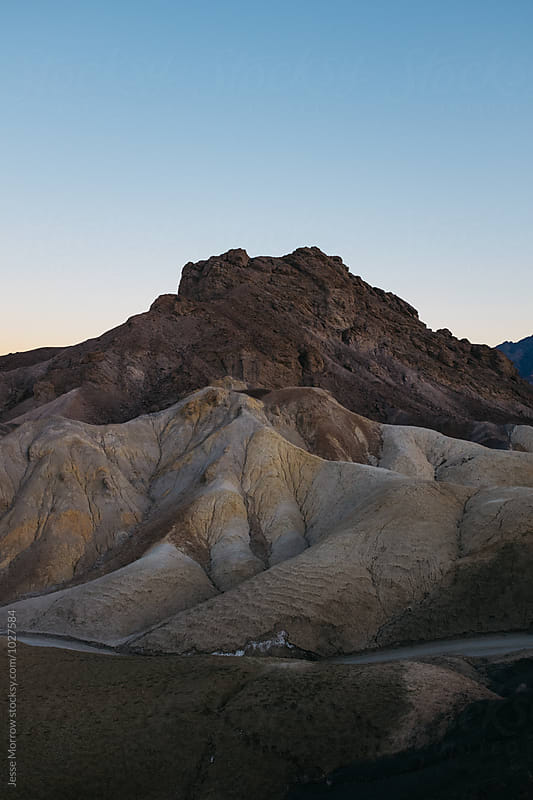 tall mountain shape in death valley landscape national park usa by Jesse Morrow for Stocksy United