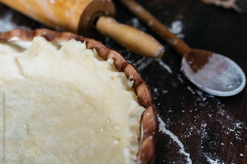 Pie crust ready to bake by Gabriel (Gabi) Bucataru for Stocksy United