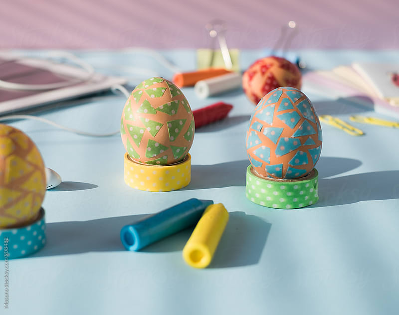 Pastel Coloured Easter Eggs by Mosuno for Stocksy United
