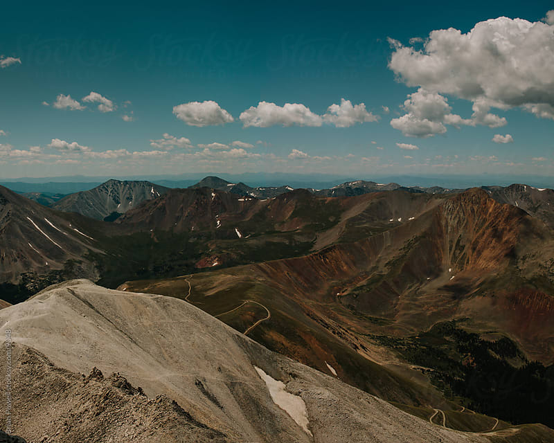 view from Mt. Antero by Brian Powell for Stocksy United