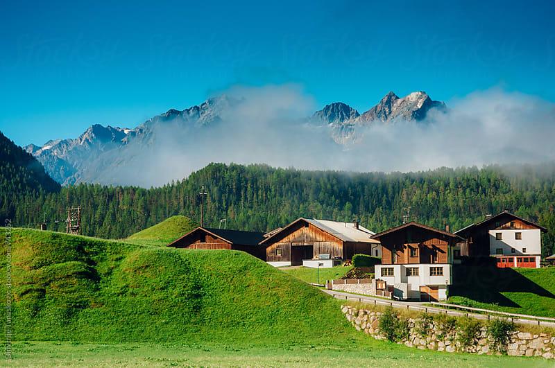 Village in the Alps by Dimitrije Tanaskovic for Stocksy United