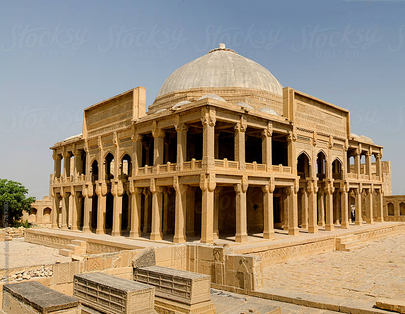 Tomb of Isa Khan in Makli Sindh Pakistan by Agha Waseem Ahmed for Stocksy United