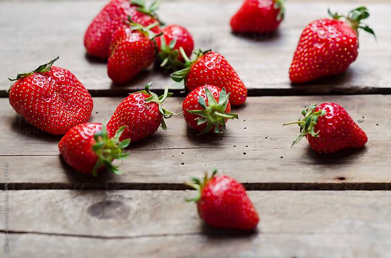 fresh strawberries by Canan Czemmel for Stocksy United