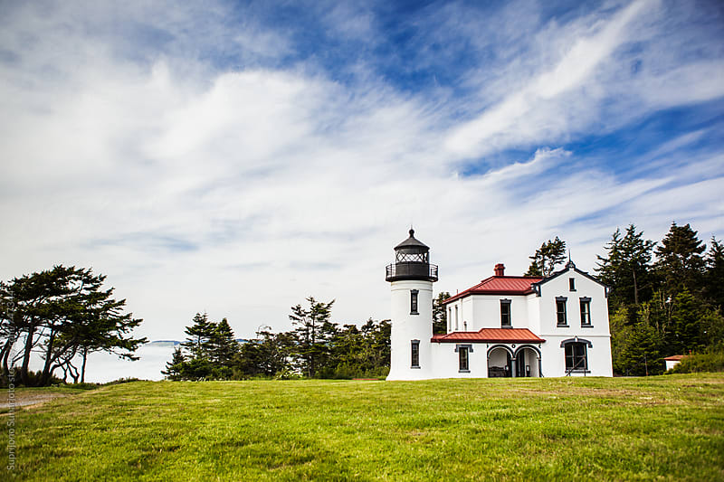 Admiralty Head Lighthouse on Whidbey Island, Washington by Suprijono Suharjoto for Stocksy United
