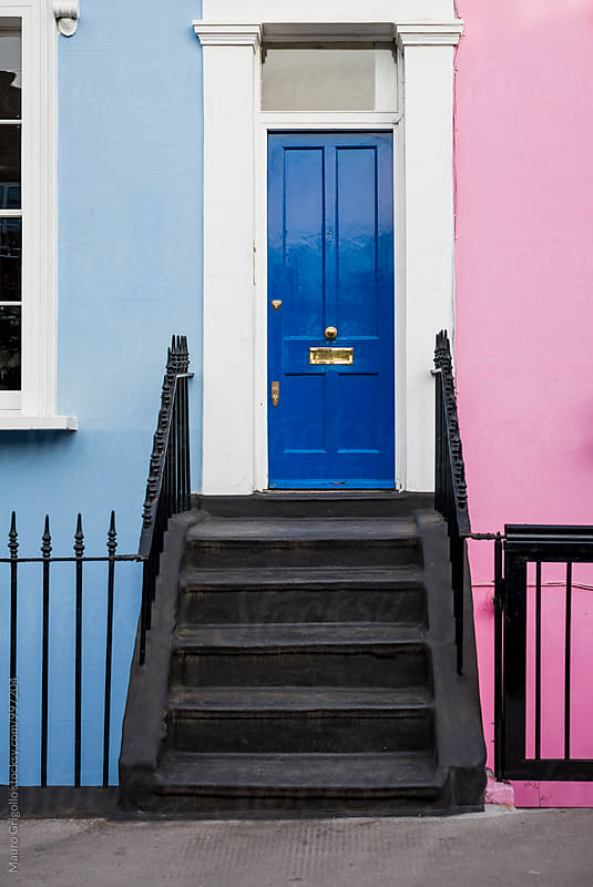 Typical front door of a House in London by Mauro Grigollo for Stocksy United