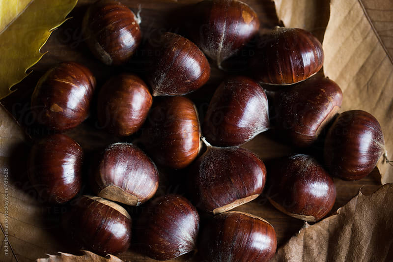 Group of fresh chestnuts by michela ravasio for Stocksy United