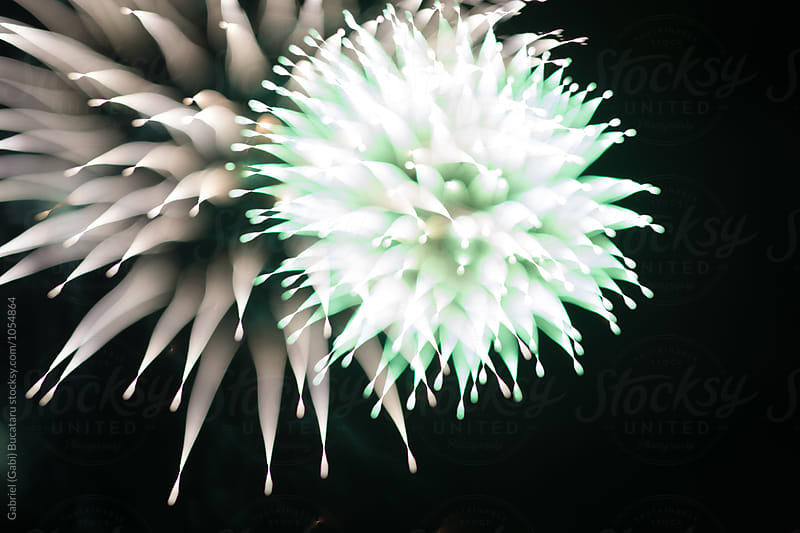 Strange shaped fireworks explosion by Gabriel (Gabi) Bucataru for Stocksy United