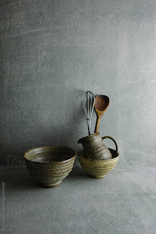 Stoneware pottery still life. by Darren Muir for Stocksy United