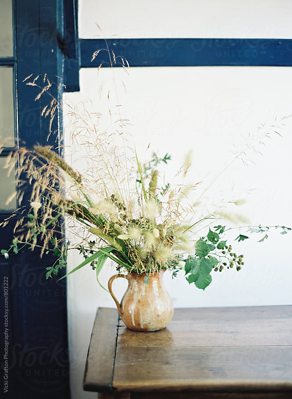 Foraged Country Arrangement  by Vicki Grafton Photography for Stocksy United