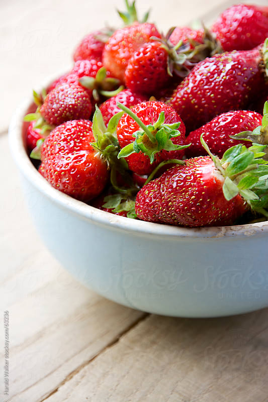 Fresh strawberries by Harald Walker for Stocksy United