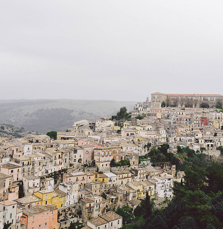 Italian old town Ragusa Ibla by Giulia Squillace for Stocksy United