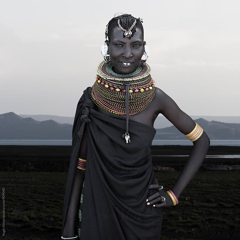 Portrait of Turkana tribal woman. Lake Turkana. Kenya. by Hugh Sitton for Stocksy United
