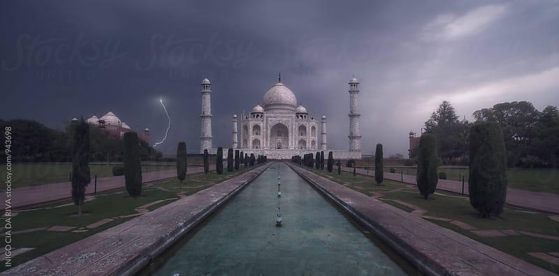 Taj Mahal in a stormy sunrise by INIGO CIA DA RIVA for Stocksy United