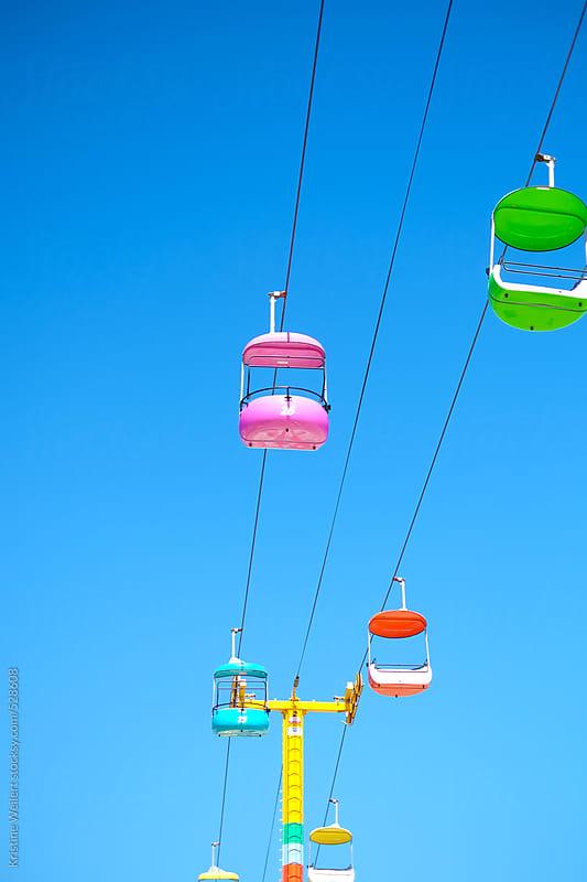 Santa Cruz boardwalk sky glider by Kristine Weilert for Stocksy United