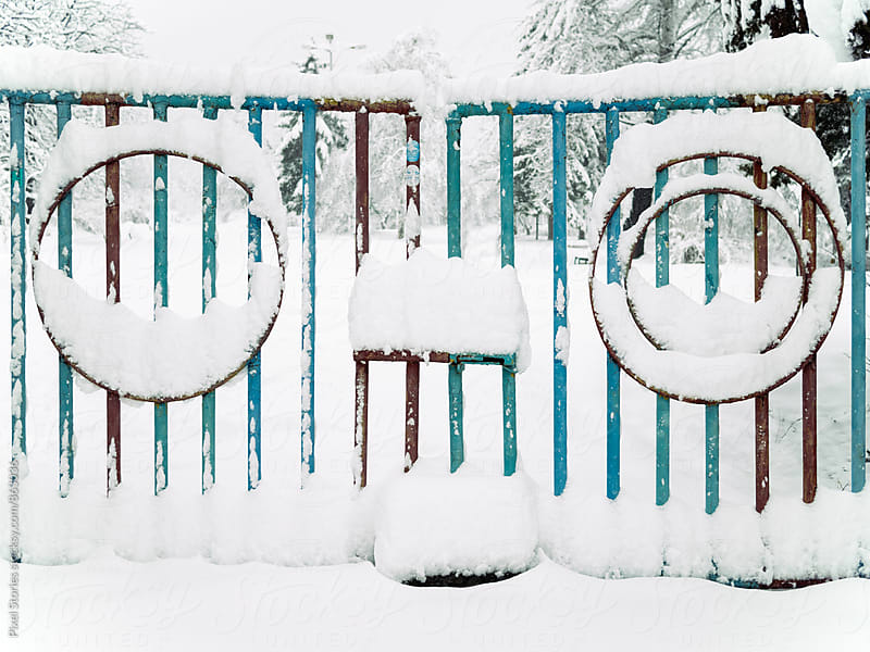 Мetal fence is watching you by Pixel Stories for Stocksy United