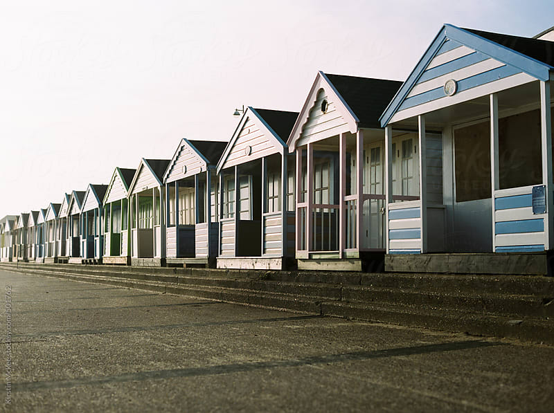 Beach huts in Southwold by Kirstin Mckee for Stocksy United