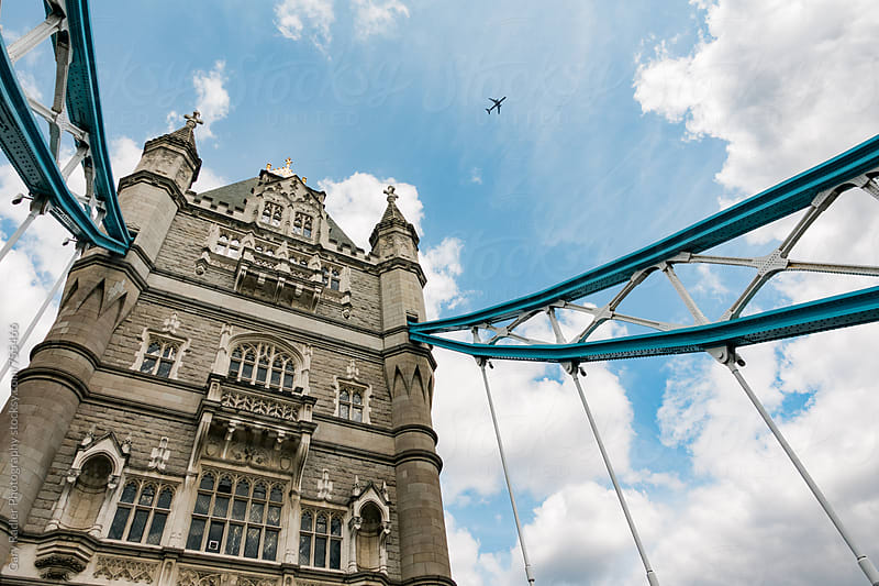Plane over London Bridge by Gary Radler Photography for Stocksy United