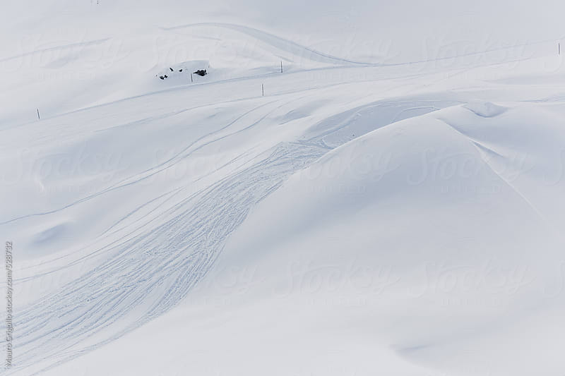 Aerial view at Ski Pistes by Mauro Grigollo for Stocksy United