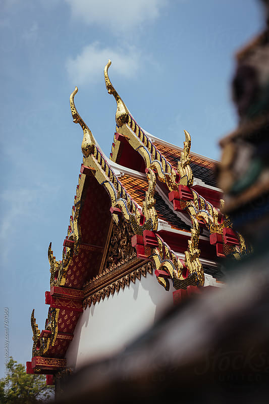 Detail of a Temple in Thailand. by Mauro Grigollo for Stocksy United