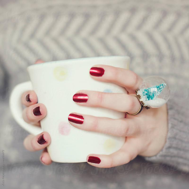 A warm winter drink by Kitty Kleyn for Stocksy United