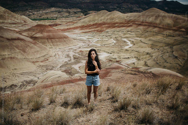 A Girl and the Desert by luke + mallory leasure for Stocksy United