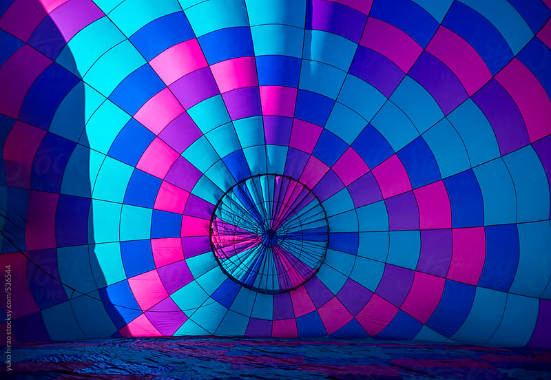 Hot air balloon's pattern in sunlight by yuko hirao for Stocksy United