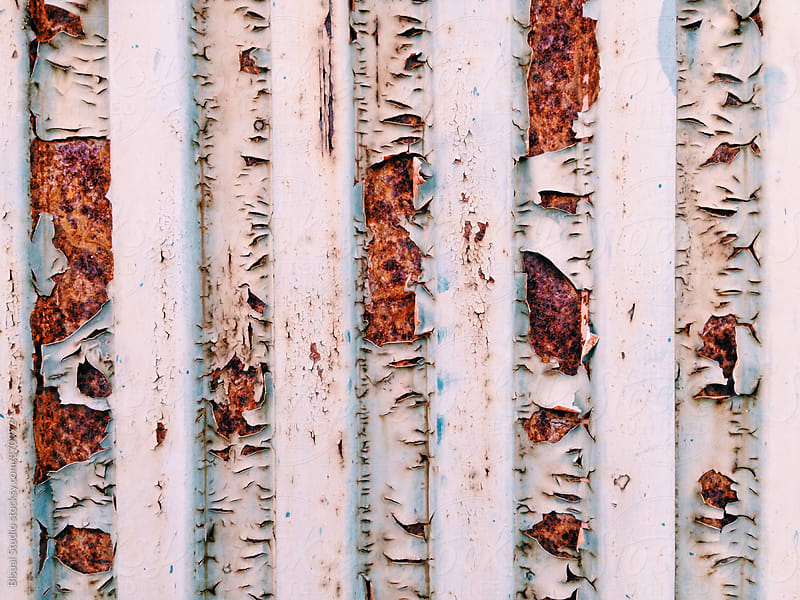 Detail of an old rusty container by Bisual Studio for Stocksy United