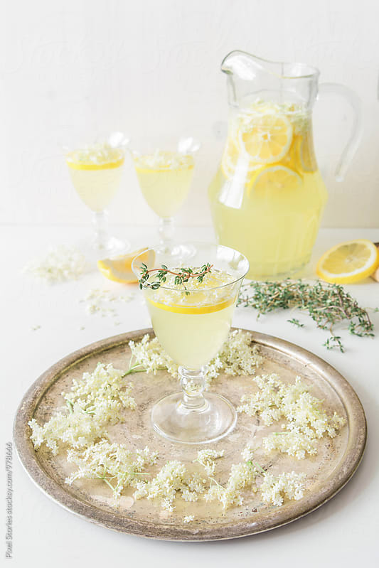 Elderflower lemonade by Pixel Stories for Stocksy United