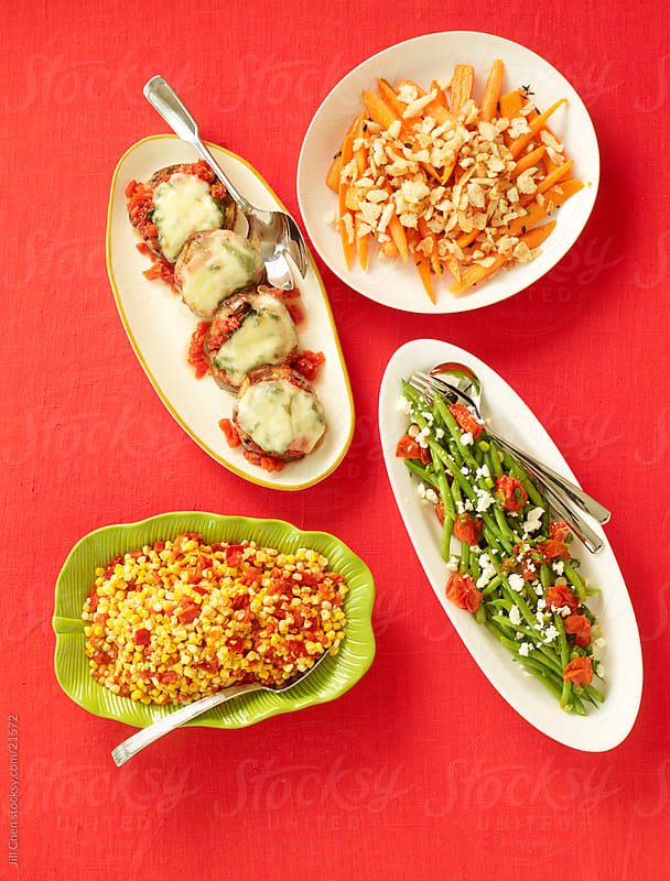 Vegetarian Side Dishes by Jill Chen for Stocksy United