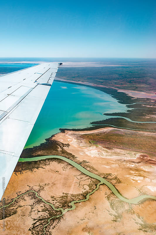 Estuary and tributaries in the far north Western Australia by Angela Lumsden for Stocksy United