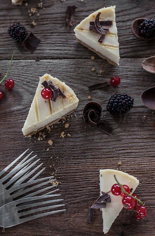 Sweet cheesecake. by Darren Muir for Stocksy United